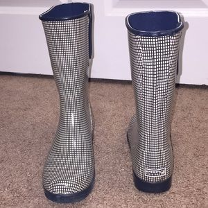 Sperry Top-Sider Navy Blue Off White Rain Boot 8